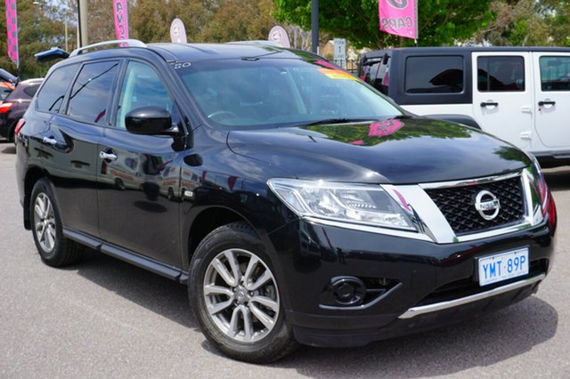 Used Nissan Pathfinder R52 MY15 ST X-tronic 2WD, 2015 Nissan Pathfinder R52 MY15 ST X-tronic 2WD Black 1 Speed Constant Variable Wagon
