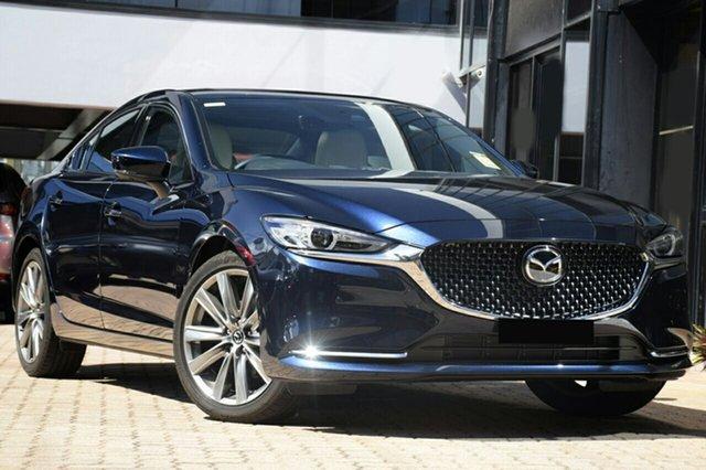 New Mazda 6 GL1033 Atenza SKYACTIV-Drive North Rockhampton, 2021 Mazda 6 GL1033 Atenza SKYACTIV-Drive Blue Reflex 6 Speed Sports Automatic Sedan