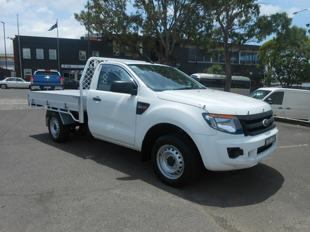 Used Ford Ranger PX XL 4x2, 2013 Ford Ranger PX XL 4x2 Cool White 6 Speed Manual Cab Chassis