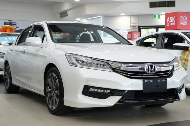 Demo Honda Accord 9th Gen MY18 VTi-L, 2018 Honda Accord 9th Gen MY18 VTi-L White Orchid 5 Speed Sports Automatic Sedan