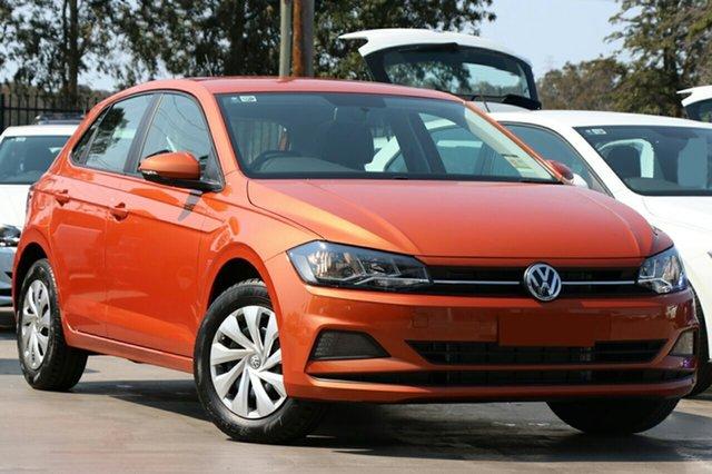 New Volkswagen Polo AW MY19 70TSI DSG Trendline, 2018 Volkswagen Polo AW MY19 70TSI DSG Trendline Energetic Orange 7 Speed
