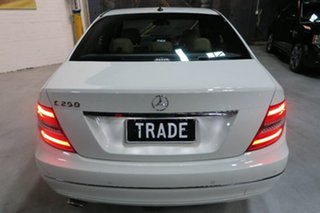 2011 Mercedes-Benz C250 W204 MY11 BlueEFFICIENCY 7G-Tronic + Avantgarde White 7 Speed