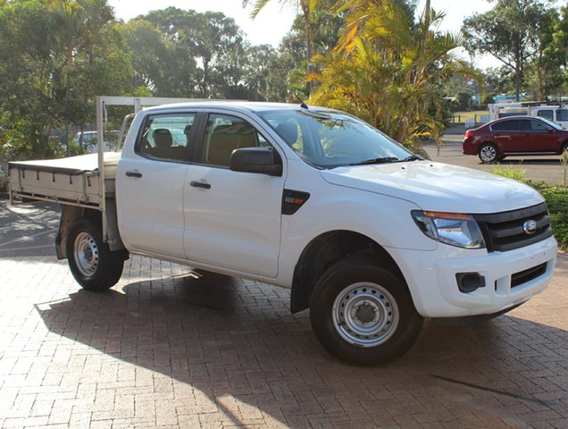 Used Ford Ranger PX XL Double Cab 4x2 Hi-Rider, 2013 Ford Ranger PX XL Double Cab 4x2 Hi-Rider White 6 Speed Sports Automatic Cab Chassis