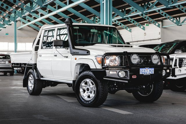 Used Toyota Landcruiser VDJ79R GXL Double Cab, 2018 Toyota Landcruiser VDJ79R GXL Double Cab White 5 Speed Manual Cab Chassis