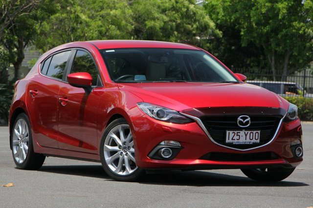 Used Mazda 3 BM5438 SP25 SKYACTIV-Drive GT, 2015 Mazda 3 BM5438 SP25 SKYACTIV-Drive GT Red 6 Speed Sports Automatic Hatchback