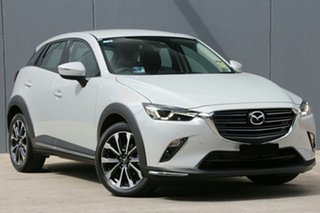 1020 Mazda CX-3 DK2W7A sTouring SKYACTIV-Drive FWD White 6 Speed Sports Automatic Wagon.
