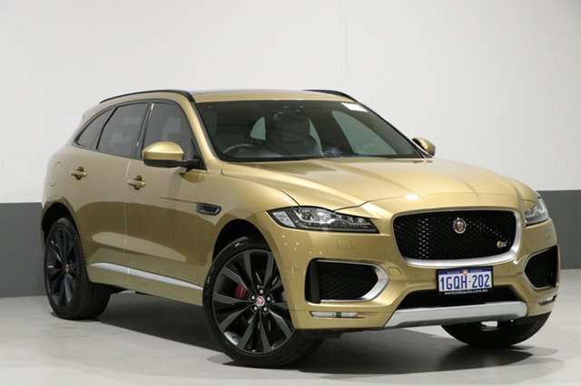Used Jaguar F-PACE MY17 First Edition, 2016 Jaguar F-PACE MY17 First Edition Halcyon Gold 8 Speed Automatic Wagon