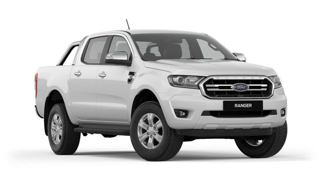 New Ford Ranger PX MkIII 2019.00MY XLT Pick-up Double Cab, 2018 Ford Ranger PX MkIII 2019.00MY XLT Pick-up Double Cab Frozen White 6 Speed Sports Automatic
