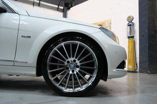 2011 Mercedes-Benz C250 W204 MY11 BlueEFFICIENCY 7G-Tronic + Avantgarde White 7 Speed.
