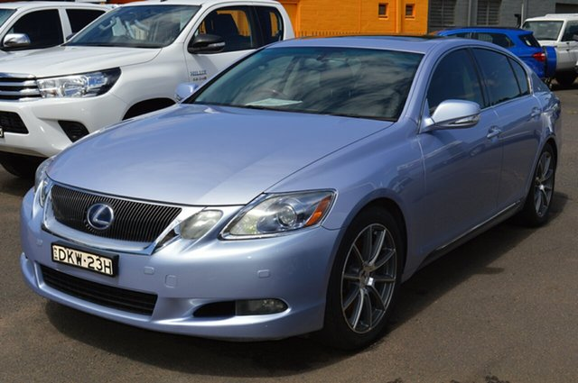 Pre-Owned Lexus GS450H GWS191R MY08 Hybrid Wellington, 2008 Lexus GS450H GWS191R MY08 Hybrid Twilight Blue Continuous Variable Sedan
