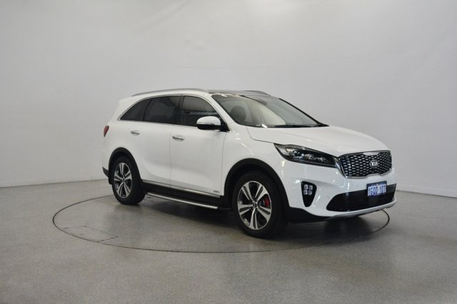 Used Kia Sorento UM MY18 GT-Line AWD, 2018 Kia Sorento UM MY18 GT-Line AWD Clear White 8 Speed Sports Automatic Wagon