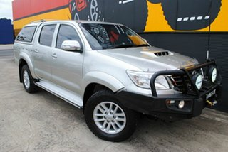 2014 Toyota Hilux KUN26R MY14 SR5 Double Cab Silver Lightning 5 Speed Manual Utility.