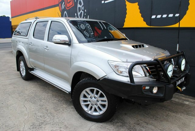 Used Toyota Hilux KUN26R MY14 SR5 Double Cab, 2014 Toyota Hilux KUN26R MY14 SR5 Double Cab Silver Lightning 5 Speed Manual Utility