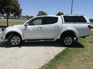 2011 Mitsubishi Triton MN MY11 GLX-R Double Cab White 5 Speed Sports Automatic Utility