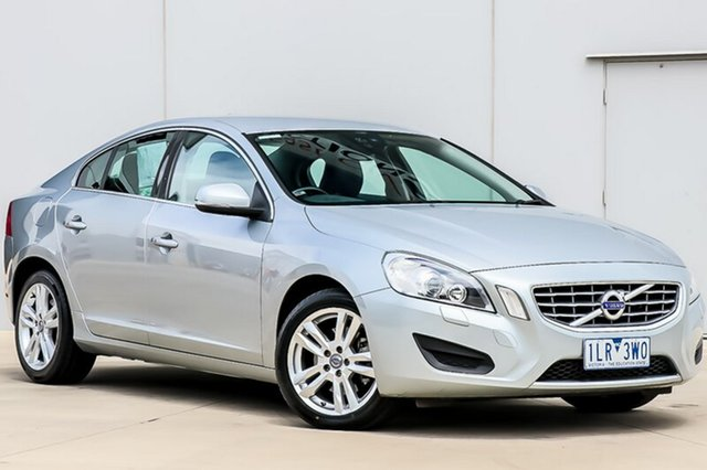 Used Volvo S60 F Series T5 PwrShift, 2011 Volvo S60 F Series T5 PwrShift Silver 6 Speed Sports Automatic Dual Clutch Sedan