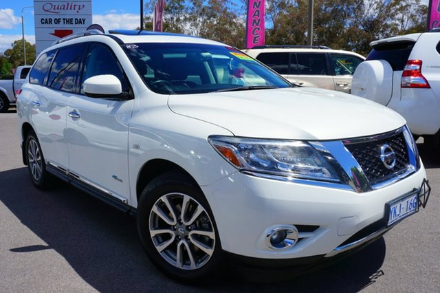 Used Nissan Pathfinder R52 MY14 ST-L X-tronic 4WD, 2014 Nissan Pathfinder R52 MY14 ST-L X-tronic 4WD Alpine White 1 Speed Constant Variable Wagon
