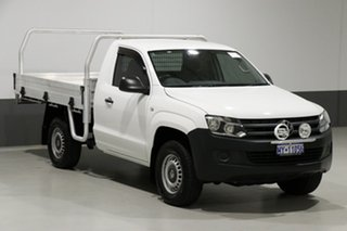 2014 Volkswagen Amarok 2H MY14 TDI400 (4x4) White 6 Speed Manual Cab Chassis