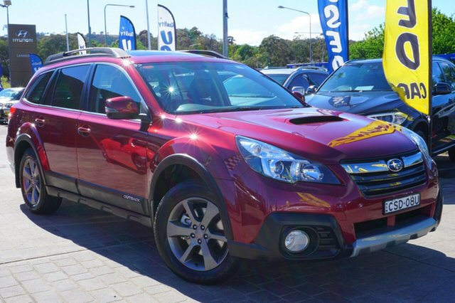Used Subaru Outback B5A MY14 2.0D Lineartronic AWD Premium, 2014 Subaru Outback B5A MY14 2.0D Lineartronic AWD Premium Red 7 Speed Constant Variable Wagon