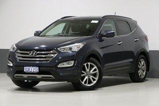 2013 Hyundai Santa Fe DM Elite CRDi (4x4) Blue 6 Speed Automatic Wagon.