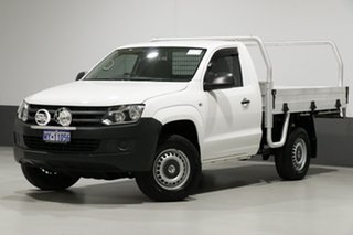 2014 Volkswagen Amarok 2H MY14 TDI400 (4x4) White 6 Speed Manual Cab Chassis.