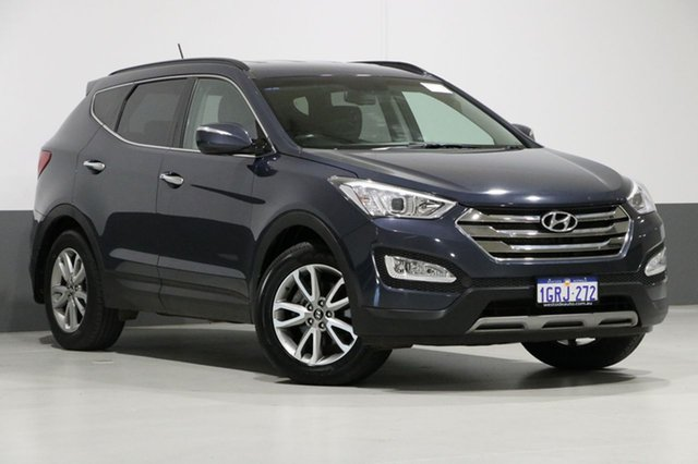 Used Hyundai Santa Fe DM Elite CRDi (4x4), 2013 Hyundai Santa Fe DM Elite CRDi (4x4) Blue 6 Speed Automatic Wagon