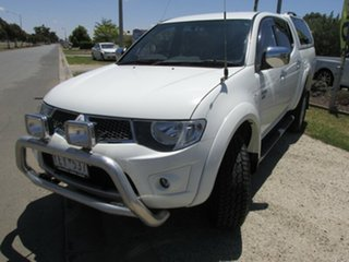 2011 Mitsubishi Triton MN MY11 GLX-R Double Cab White 5 Speed Sports Automatic Utility.