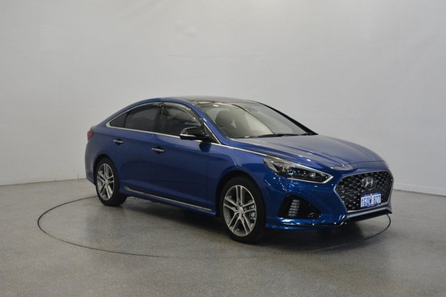 New Hyundai Sonata LF4 MY18 Premium, 2018 Hyundai Sonata LF4 MY18 Premium Blue Sapphire 8 Speed Sports Automatic Sedan