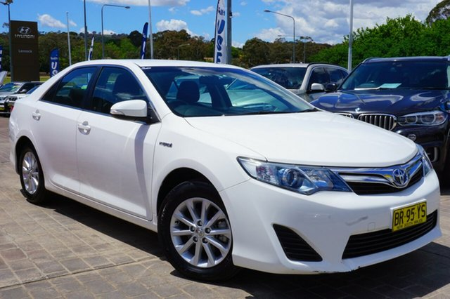 Used Toyota Camry AVV50R Hybrid H, 2012 Toyota Camry AVV50R Hybrid H White 1 Speed Constant Variable Sedan