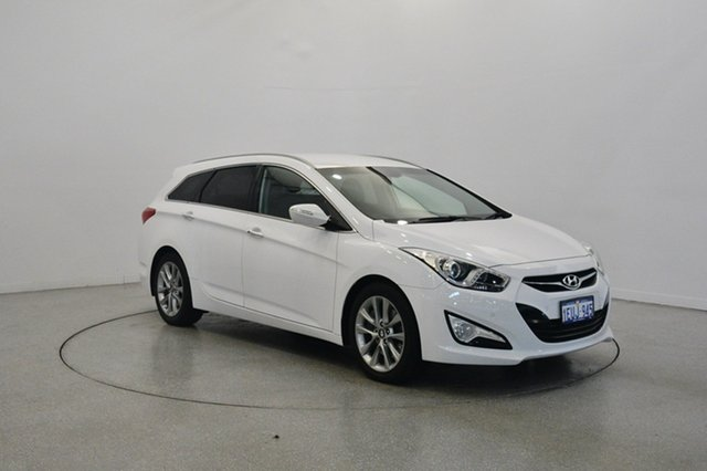 Used Hyundai i40 VF2 Elite Tourer, 2015 Hyundai i40 VF2 Elite Tourer White 6 Speed Sports Automatic Wagon