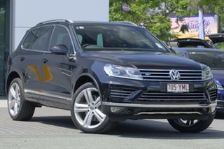 2017 Volkswagen Touareg 7P MY18 V8 TDI Tiptronic 4MOTION R-Line Deep Black Pearl Effect 8 Speed.