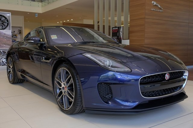 Demo Jaguar F-TYPE X152 MY19.5 250kW Quickshift RWD, 2018 Jaguar F-TYPE X152 MY19.5 250kW Quickshift RWD Loire Blue 8 Speed Sports Automatic Coupe