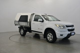2012 Holden Colorado RG MY13 LX White 6 Speed Sports Automatic Cab Chassis.