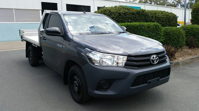 Used Toyota Hilux GUN122R Workmate 4x2, 2015 Toyota Hilux GUN122R Workmate 4x2 Graphite 5 Speed Manual Cab Chassis