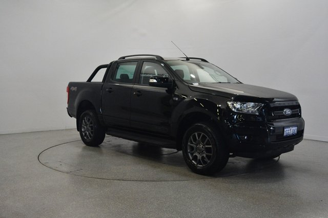 Used Ford Ranger PX MkII FX4 Double Cab, 2017 Ford Ranger PX MkII FX4 Double Cab Shadow Black 6 Speed Sports Automatic Utility