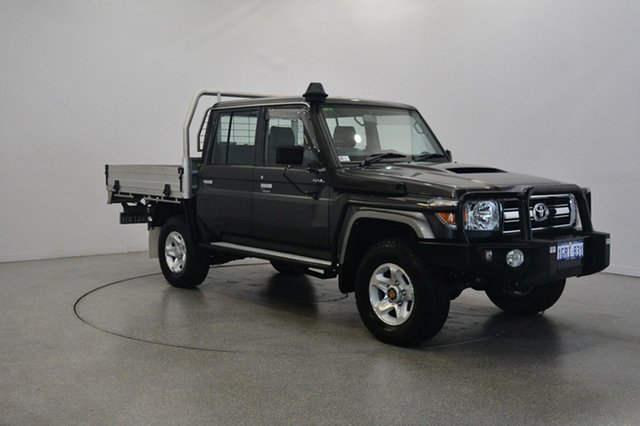 Used Toyota Landcruiser VDJ79R GXL Double Cab, 2015 Toyota Landcruiser VDJ79R GXL Double Cab Graphite 5 Speed Manual Cab Chassis