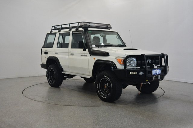 Used Toyota Landcruiser VDJ76R MY10 Workmate, 2012 Toyota Landcruiser VDJ76R MY10 Workmate White 5 Speed Manual Wagon
