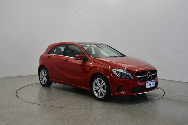 Used Mercedes-Benz A180 W176 808MY D-CT, 2017 Mercedes-Benz A180 W176 808MY D-CT Red 7 Speed Sports Automatic Dual Clutch Hatchback
