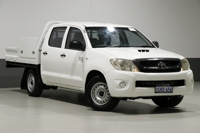Used Toyota Hilux KUN16R MY12 SR, 2011 Toyota Hilux KUN16R MY12 SR White 5 Speed Manual Dual Cab Pick-up