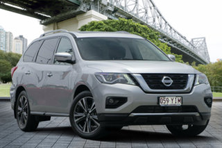 2018 Nissan Pathfinder R52 Series II MY17 Ti X-tronic 4WD Brilliant Silver 1 Speed Constant Variable.