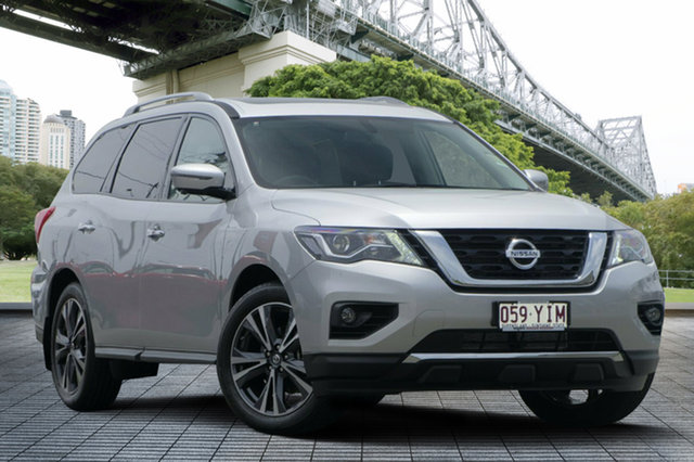Demo Nissan Pathfinder R52 Series II MY17 Ti X-tronic 4WD, 2018 Nissan Pathfinder R52 Series II MY17 Ti X-tronic 4WD Brilliant Silver 1 Speed Constant Variable