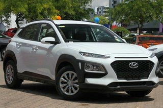 2018 Hyundai Kona Go Chalk White 6 Speed Automatic Hatchback.