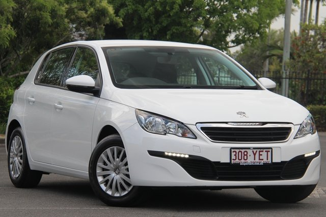 Used Peugeot 308 T9 Access, 2014 Peugeot 308 T9 Access White 6 Speed Sports Automatic Hatchback