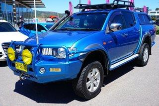 2010 Mitsubishi Triton MN MY10 GLX-R Double Cab Blue 5 Speed Manual Utility.