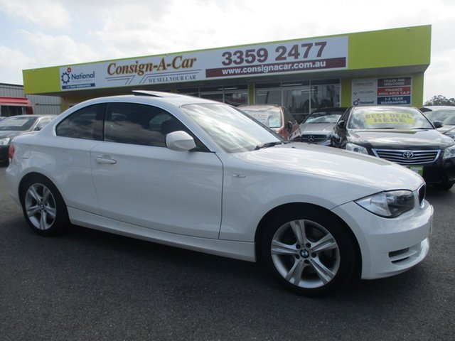 Used BMW 123d E82 MY10 Steptronic, 2009 BMW 123d E82 MY10 Steptronic White 6 Speed Sports Automatic Coupe