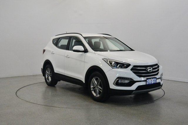 Used Hyundai Santa Fe DM5 MY18 Active, 2018 Hyundai Santa Fe DM5 MY18 Active Pure White 6 Speed Sports Automatic Wagon
