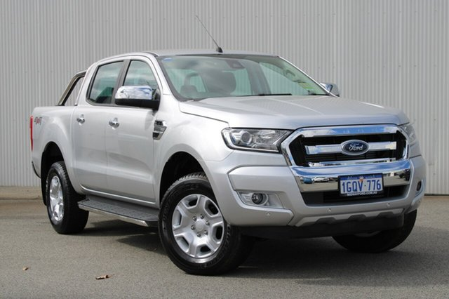 Demo Ford Ranger  XLT Double Cab, 2018 Ford Ranger PX MKII 2018.00 XLT Double Cab Ingot Silver 6 Speed Sports Automatic Utility