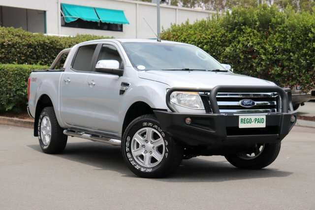 Used Ford Ranger PX XLT Double Cab, 2015 Ford Ranger PX XLT Double Cab Silver 6 Speed Sports Automatic Utility