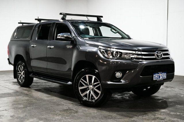 Used Toyota Hilux GUN126R SR5 Double Cab, 2016 Toyota Hilux GUN126R SR5 Double Cab Grey 6 Speed Sports Automatic Utility