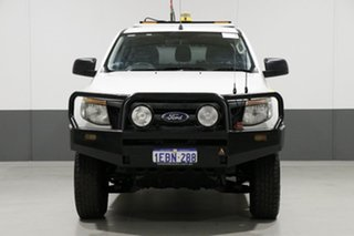 2012 Ford Ranger PX XL 3.2 (4x4) White 6 Speed Automatic Dual Cab Utility.