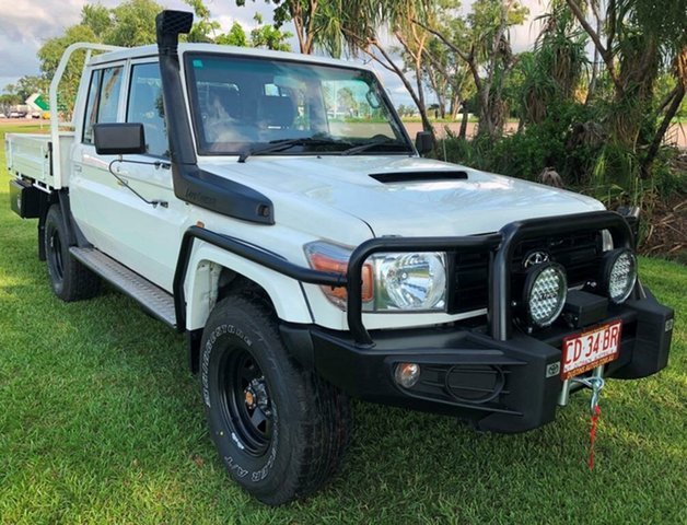 Used Toyota Landcruiser VDJ79R Workmate Double Cab, 2015 Toyota Landcruiser VDJ79R Workmate Double Cab White 5 Speed Manual Cab Chassis